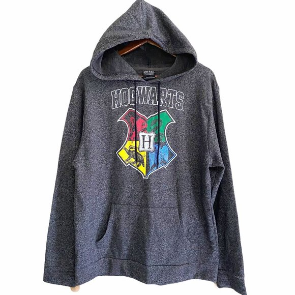 Harry Potter NWT Hogwarts Graphic Gray Hoodie